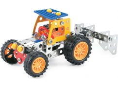 MaDe Stavebnice Malý mechanik Traktor s nástrojem 126 dílků
