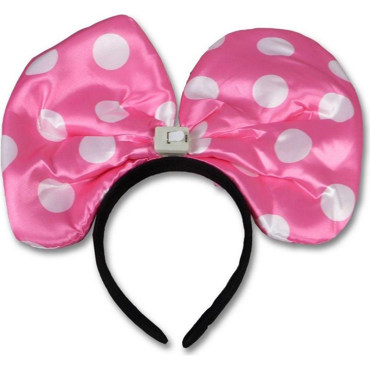 Made Svítící uši myšky Minnie růžové