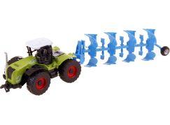 Made Traktor s nástroji na zpětný chod pluh modrý