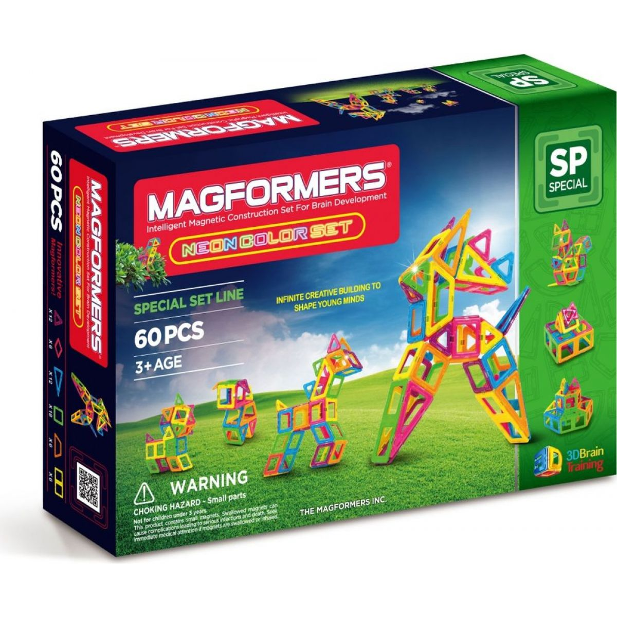 Magformers Neon Color Set 60ks