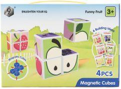 Magnetic Cubes Magnetické kostky ovoce 4 ks