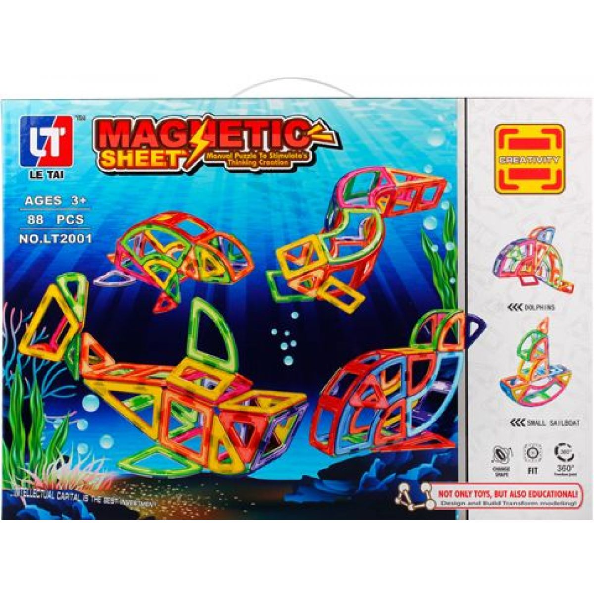 Magnetická stavebnice Magnetic Sheet 88