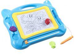 Magnetická tabulka kreslící s razítky modrá