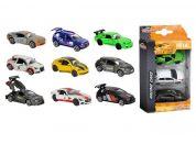 Majorette Autíčka kovová Racing 3 ks