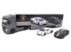 Majorette Lamborghini kamion a dvě autíčka