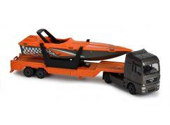 Majorette nákladní auto, kovové MAN TGA XXL Loď s přívěsem
