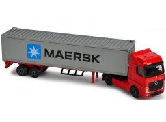 Majorette nákladní auto kovové Mercedes-Benz Maersk Červená kabina