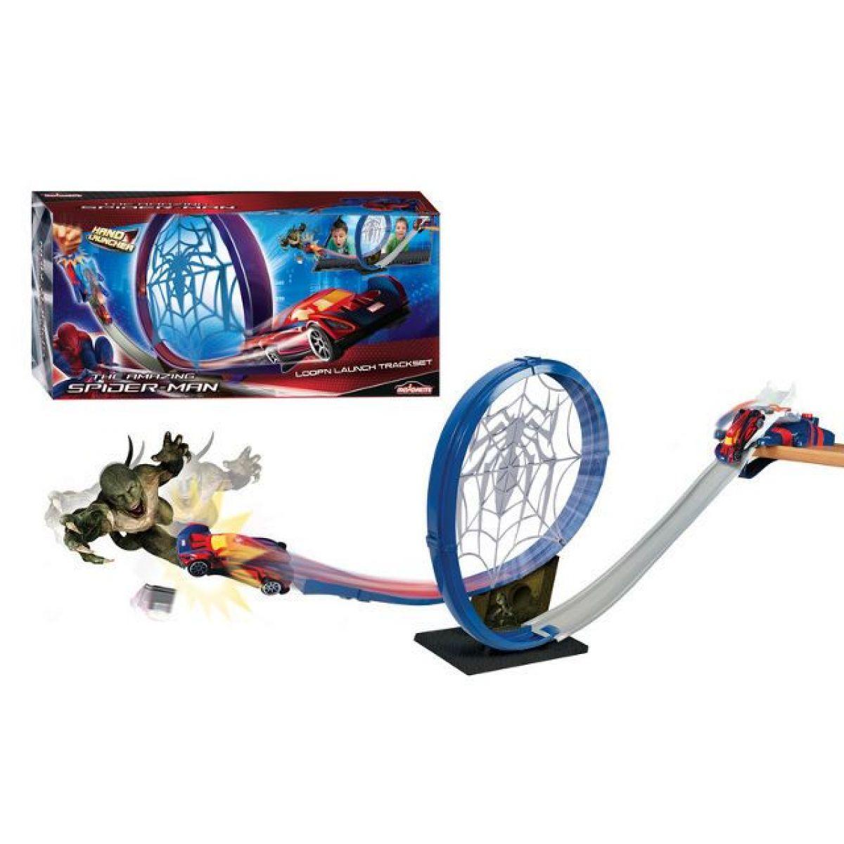 Majorette Spiderman Loop n'Launch dráha s autem