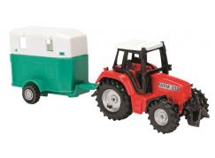 Majorette Traktor s přívěsem převoz koní