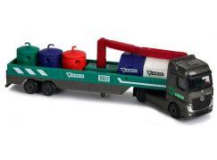 Majorette Transporter Mercedes Actros s kontejnery
