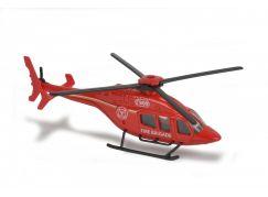 Majorette Vrtulník kovový 13 cm BEL 429 Červený záchranář