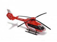 Majorette Vrtulník kovový 13 cm EC 145 Bílo-červený DRF