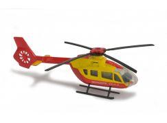 Majorette Vrtulník kovový 13 cm EC 145 Žluto-červený Securite