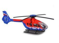 Majorette Vrtulník kovový 13 cm H 145 červeno-modrý