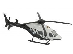 Majorette Vrtulník kovový 13 cm H 145 stříbrno-modrá Policie