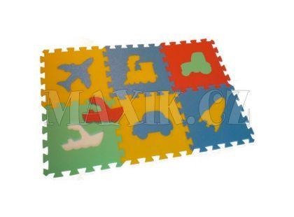 Malý Génius Pěnový Maxi koberec dopravní prostředky 6 dílů