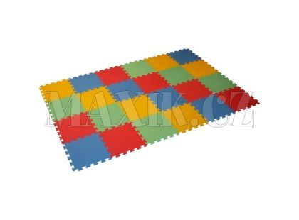 Malý Génius Pěnový Maxi pevný koberec 24 dílků