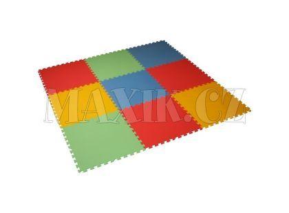 Malý Génius Pěnový XL pevný koberec 9 dílů