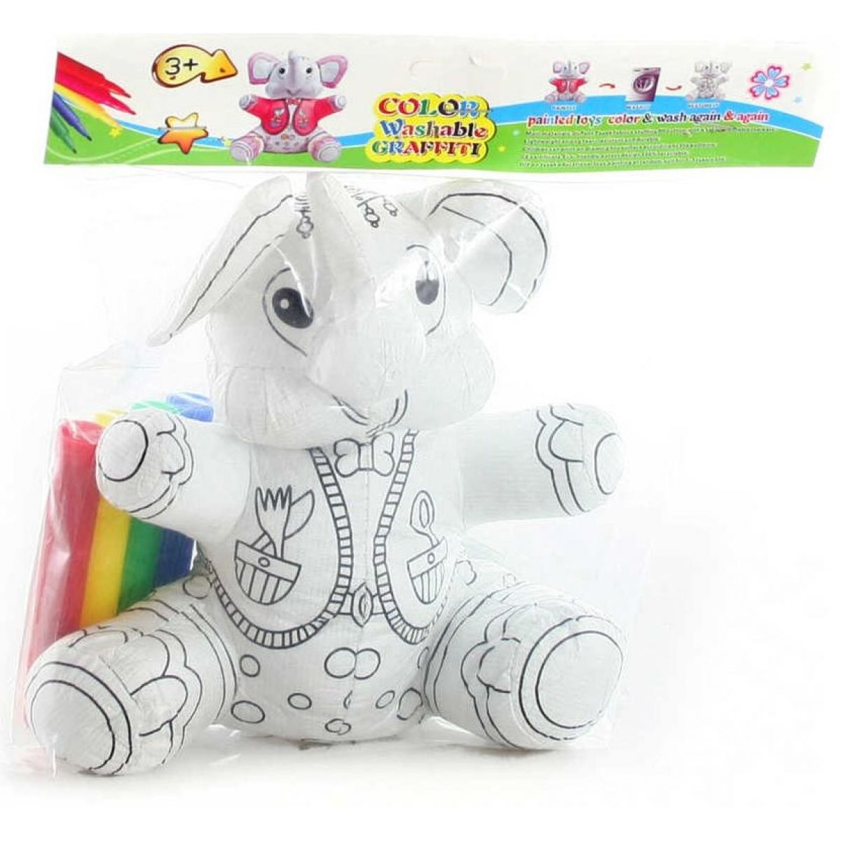 Malovací slon s fixami