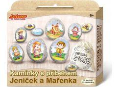 Malování na oblázky s příběhem Jeníček a Mařenka  kreativní sada  v krabičce