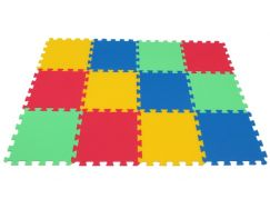 Malý Génius Pěnový koberec 16mm Maxi 12 dílků pevný - Poškozený obal