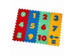 Malý Génius Pěnový koberec čísla 12 dílů
