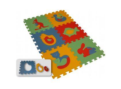Malý Génius Pěnový Maxi koberec zvířata 6 dílů