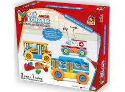 Malý mechanik plastový Junior městské dopravní prostředky