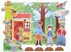 Marionetino Budulínek - scéna s figurkami