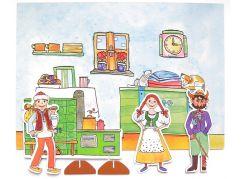 Marionetino Čert, Honza a Káča - scéna s figurkami