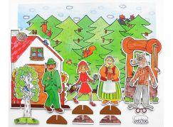 Marionetino Červená Karkulka - scéna s figurkami