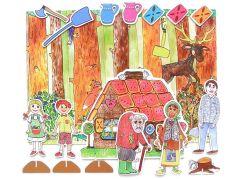 Marionetino Perníková chaloupka - scéna s figurkami