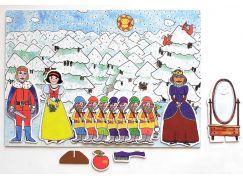Marionetino Sněhurka - scéna s figurkami
