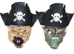 Maska pirát s čepicí vinyl 2 druhy
