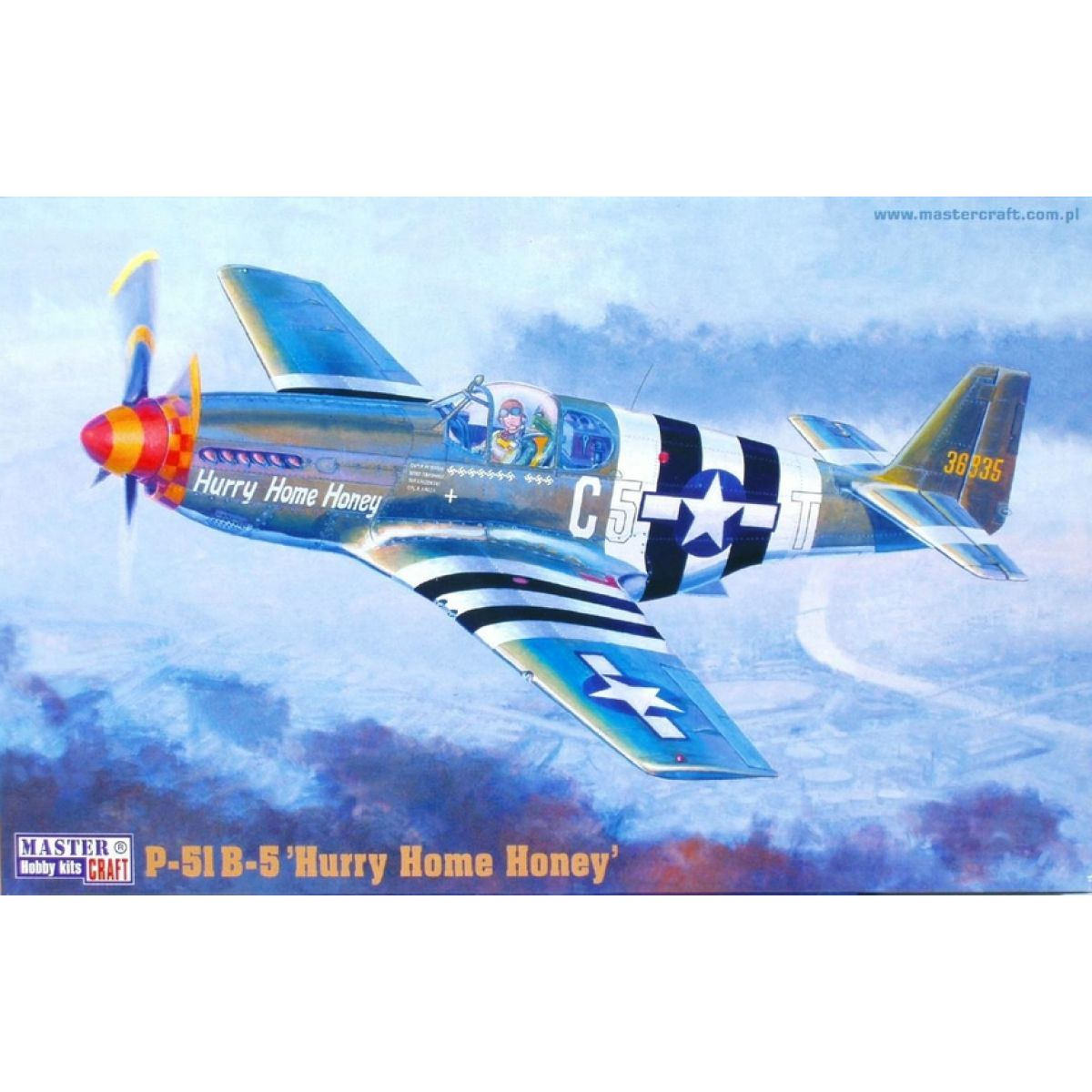 Master Craft Bojový letoun P-51B-5 Hurry Home Honey - Série III