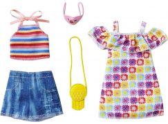 Mattel Barbie 2 ks oblečky v praktickém balení GRC91