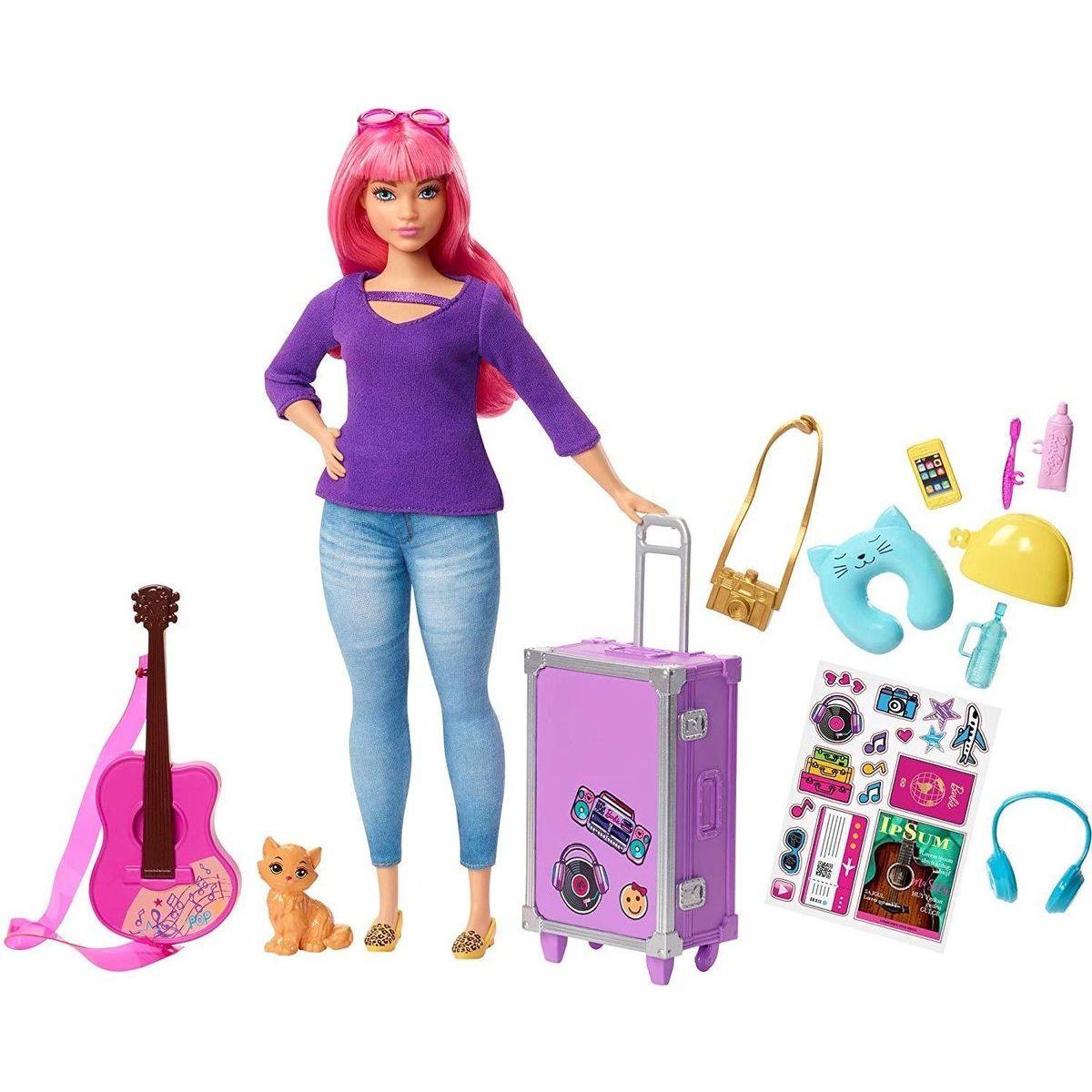 Mattel Barbie cestovatelka růžové vlasy - Daisy