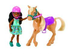Mattel Barbie Chelsea a poník hnědé vlasy