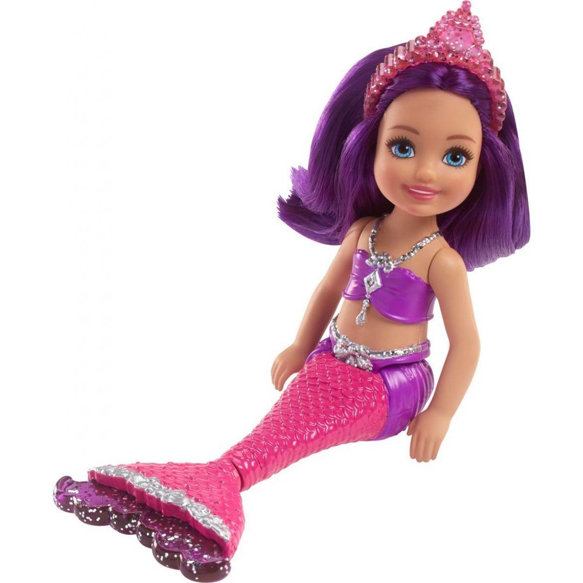 Mattel Barbie Chelsea Mořská panna Fialové vlasy