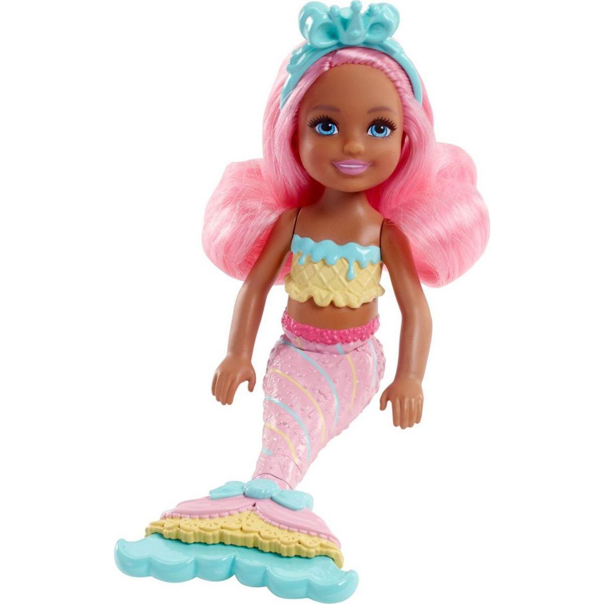 Mattel Barbie Chelsea Mořská panna Růžové vlasy