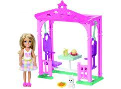 Mattel Barbie Chelsea s doplňky Zahradní houpačka