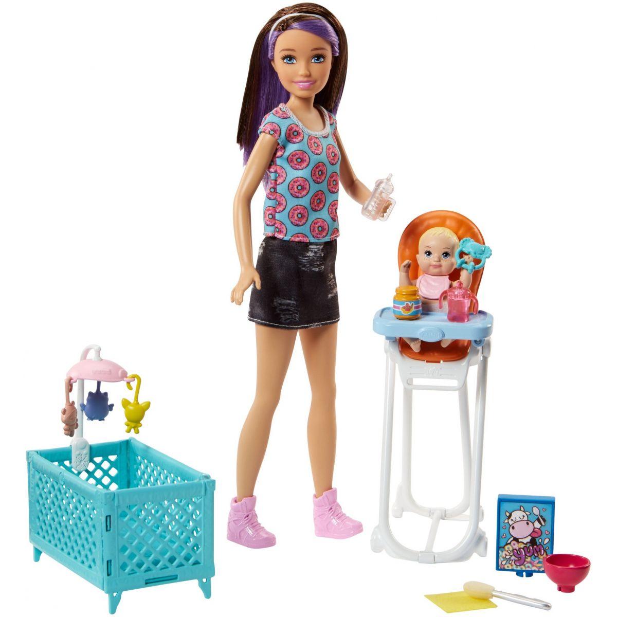 Mattel Barbie Chůva Herní set FHY98