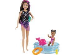 Mattel Barbie chůva herní set s bazénkem