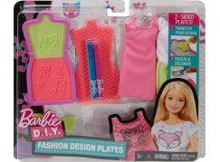 Mattel Barbie D.I.Y. návrhářské módní šablony
