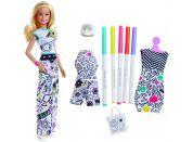 Mattel Barbie D.I.Y Crayola Vybarvování šatů Běloška