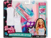 Mattel Barbie D.I.Y módní návrhářské šablony Růžovo-modrá