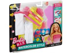 Mattel Barbie D.I.Y módní návrhářské šablony Růžovo-žlutá