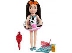 Mattel Barbie Dreamtopia Chelsea s doplňky na pláž černovláska