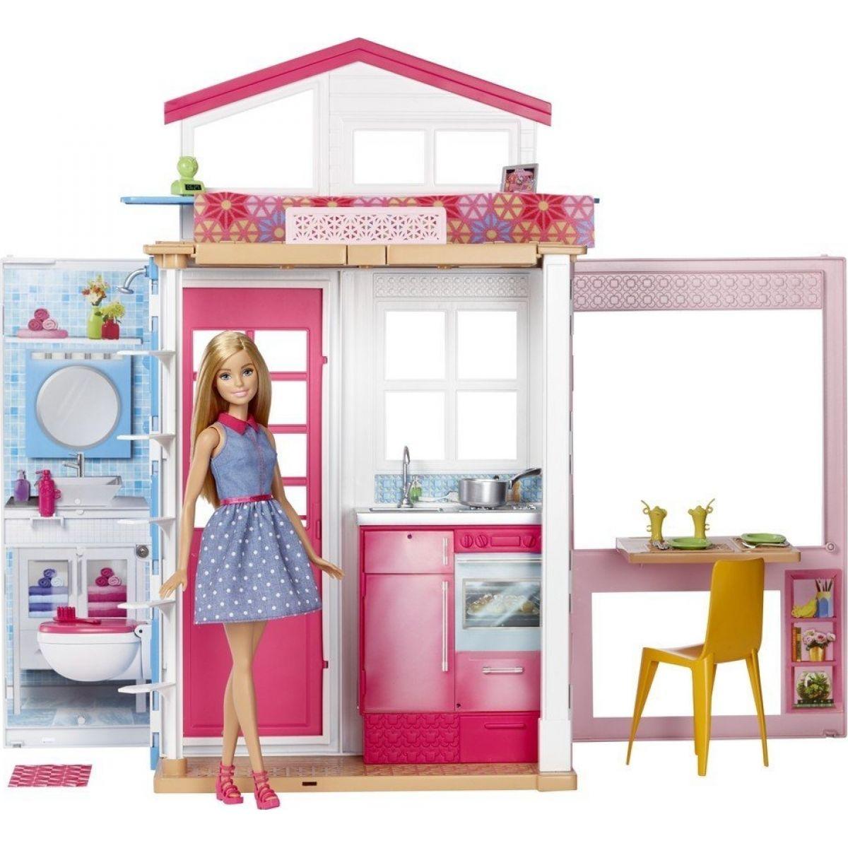 Mattel Barbie dům 2v1 a panenka