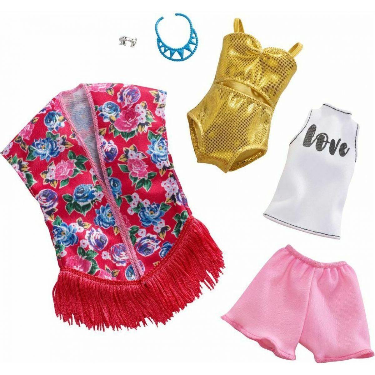Mattel Barbie Dvoudílný set oblečení FXJ62
